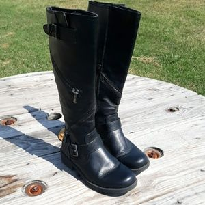 Black Zippered Boots